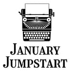 Typewriter icon with the words January Jumpstart