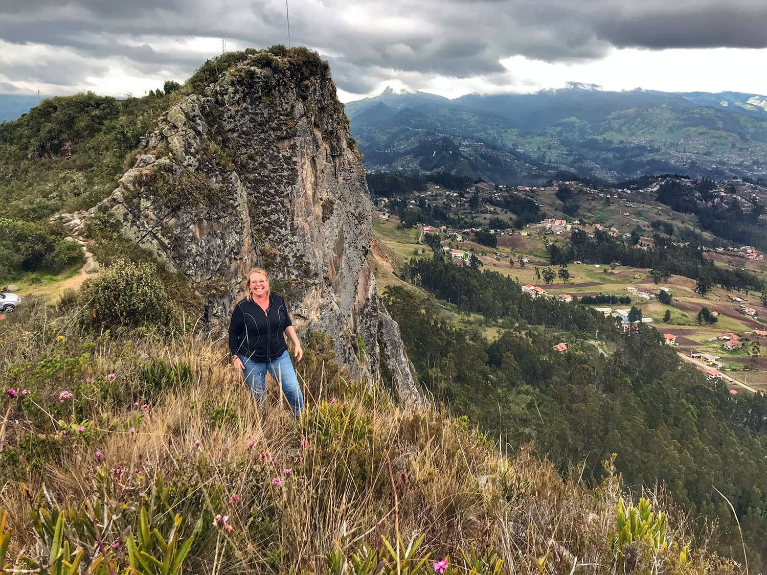 Me standing on top of a mountain in ecuador