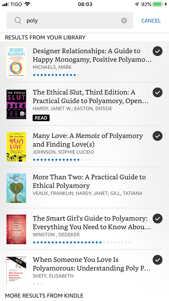 Kindle Book list